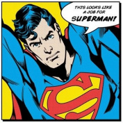 CV95054 Superman quote DC Comics 40cm x 40cm canvas print