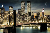 Empire 173010 New York Night and Moon Skyline Poster 91.5 cm x 61 cm