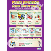 Food Hygiene & Bacteria Wall Chart / Poster in High Gloss Paper