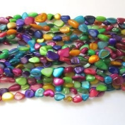 Pretty Pebbles Beads - 80cm Multi Colour Shell Beads Brights