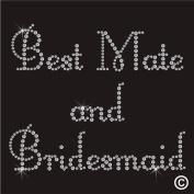 Rhinestone Diamante Crystal Iron On T Shirt Design Transfer - Wedding Best Mate Bridesmaid