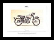 BSA Gold Star Classic Motorcycle Limited Edition Art Print