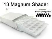 13 MAGNUM SHADER TATTOO NEEDLE 50pc Box Machine Supply