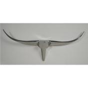 ALUMINIUM BULL HORNS animal head wall antlers silver 100 cm range