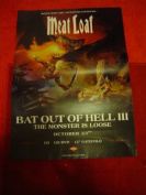 MEATLOAF BAT OUT OF HELL 111 28 X 20 approx INCHES POSTER