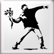 The Stencil Studio Banksy Style Flower Thrower Reuseable Stencil - Size A5