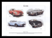Jaguar E-Type Classic Cars - Series 1, Series 2, Series 3 - Art Print