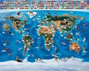 Walltastic 2.4m x 3m Map of the World Wallpaper Mural