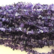 "Pretty Pebbles Beads - 36"" Strand Amethyst Chip Beads 5mm - 8mm"