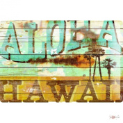 M.A. Allen Retro Tin Sign U.S. Deco Aloha Hawaii Surfing dream island 20x30 cm Large Metal Wall Decoration Vintage Retro Classic Plaque