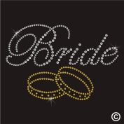 Rhinestone Diamante Crystal Iron On T Shirt Design Transfer - WEDDING BRIDE RINGS