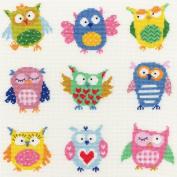 Bothy Threads Slightly Dotty Owls Cross Stitch Kit