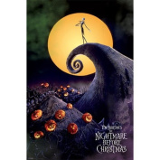The Nightmare Before Christmas Signature Cartoon Large Metallic Foil Movie Film Poster 61 by 91.5cm