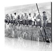 LARGE MEN ON A GIRDER CANVAS GALLERY STYLE 80cm x 50cm A1