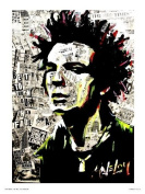 Sid Vicious Sex pistols Pop Art Poster Print by Saveloy