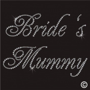 Rhinestone Diamante Crystal Iron On T Shirt Design Transfer - WEDDING BRIDE MUMMY