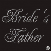 Rhinestone Diamante Crystal Iron On T Shirt Design Transfer - WEDDING BRIDES FATHER