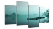 Large Teal Landscape Canvas Wall Art Pictures Set 130cm Prints XL 4118