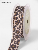 Leopard Print 20mm Grosgrain Ribbon on 3m Length