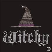 Rhinestone Diamante Crystal Iron On T Shirt Design Transfer - Witchy