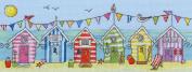 Bothy Threads Beach Huts Fun Cross Stitch Kit