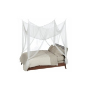 White 4 Poster Square Bed Canopy with Gift Bag Fits Up To King Size