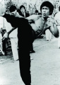 Bruce Lee High Kick Martial Arts PAPER Moivie Poster Measures 34 x 24 inches
