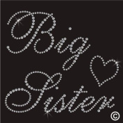 Rhinestone Diamante Crystal Iron On T Shirt Design Transfer - Big Sister