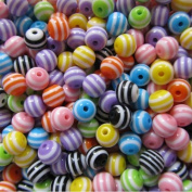 Pretty Pebbles Beads - 50 Acrylic Resin Beads Colour Mix 8mm Round