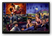 Hollywood Drive-In (Marilyn Monroe Groucho Marx Gone With The Wind) by George Bungarda Art Print Poster