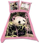 Animal Planet Panda Single Duvet Set Panel Print