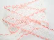 Eyelet Knitting in Lace 30mm wide - Peach - per metre
