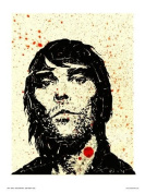 Ian Brown from Stone Roses Pop Art Print Poster by WIG