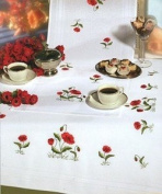 Poppies Embroidery Table Runner - 40 x 100cm - Embroidery Kit