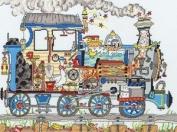 Cut Thru' Steam Train - Cross Stitch Kit