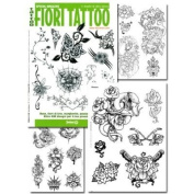 Tattoo Book of FIORI Various Flower Illustrations / Tattoo Flash Book Books / Tattoo Flash Art