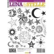 Tattoo Book of Various Style Moons and Stars Illustrations LUNA & STELLE / Tattoo Flash Book Books / Tattoo Flash Art