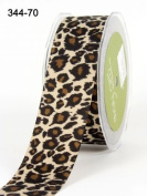 Leopard Print 38mm Grosgrain Ribbon on 3m Length