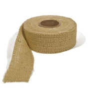 BURLAP RIBBON - NATURAL, 7.6cm X 10 YARDS