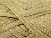 Rico CanCan Disco Scarf Knitting Yarn Gold - 100gram ball