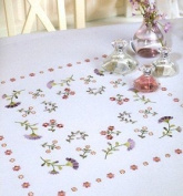 Spring Sprays Embroidery Tablecloth - 90 x 90cm - Embroidery Kit