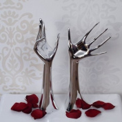2 DESIGN JEWELLERY HANDS BAM decoration ring hand stand box silver