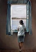 Woman at the Window (Muchacha en la ventana) by Salvador Dali, 100% Cotton Canvas Print 28 x 20 cm