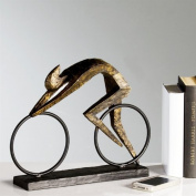 "DESIGN CYCLIST SCULPTURE ""RACER"" decoration figure racing bike bronze from XTRADEFACTORY"