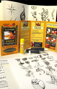 20 ml Jagua Kit (with 2-10ml tubes) Over 70 Designs Plus Transfer Paper - Use Like Henna