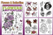 Flowers & Butterflies Design 66-Page Flash Book