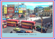 PICCADILLY CIRCUS , LONDON 1963 Vintage Photograph 250gsm ART CARD Gloss A3 Reproduction Poster