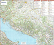 Michelin National Wall Map of Slovenia, Croatia, Bosnia-Herzegovina, Serbia