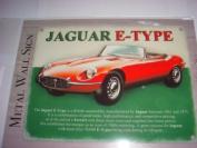 JAGUAR E TYPE A BRITISH CLASSIC MINI ENAMEL METAL SIGN 20cm X 15cm