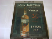 JOHN JAMESON & SONS 6 YEAR OLD WHISKEY LARGE METAL SIGN 30cm X 41cm